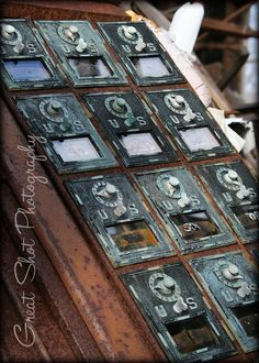 Vintage Post Office Boxes Photo   Fine Art by GreatShotPhotography, $25.00
