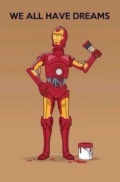 geek, dream big, irons, dreams, stars, starwar, iron man, star wars, ironman