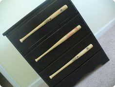 love this baseball dresser for a boys room!