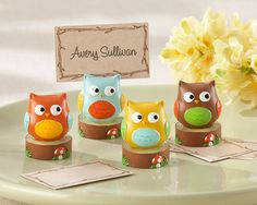 Baby Owl Place Card and Photo Holders