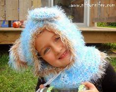 Free Crochet Pattern ~ Beautiful Blue Bear Hood
