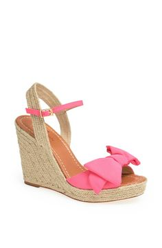 Love the pink bow on this espadrille | Kate Spade