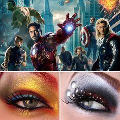 eye makeup, eyeshadow, aveng movieinspir, movieinspir makeup, aveng inspir, beauti inspir, inspir eye