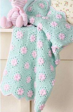crochet blankets, crochet rose blanket, babi idea, color, sweetheart rose, crochet baby blankets, aqua, crochet patterns, big books