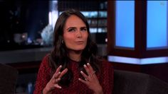 "Dallas star, Jordana Brewster, rocking Graziela Gems during an appearance on ""Jimmy Kimmel Live"" #Dallas #FastAndFurious #JordanaBrewster #JimmyKimmel"