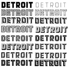 "Chris Hamamoto reviews fonts: ""Detroit contains 12 fonts that can be layered in several combinations to create titling effects often seen in sign painting and other hand-crafted lettering."""