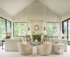 All-White Living Room with Elegant Flair