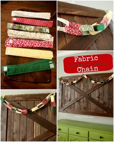 Fabric Christmas Countdown Chain christmas countdown, christma countdown, countdown chain, diy crafts, fabric chain, fabric christmas, craft idea, diy project, paper chains