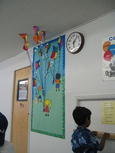 kites...so cute how they attach to the ceiling!