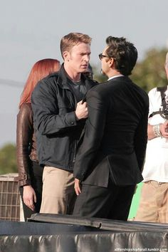 RDJ on the Set of Captain America 2. Heck yes.