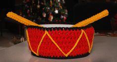 christma drum, christma crochet, crochet christma