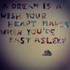 Quote on bedroom wall
