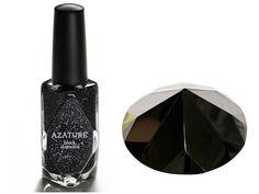 nail polish, night skies, diamond, sparkle nails, glitter nails, black nails, galaxy nails, sparkly nails, halloween nails