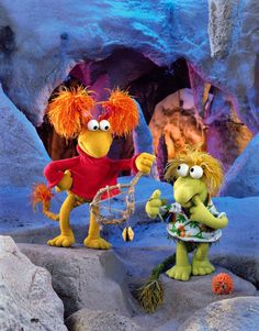 """Wembley and Red in """"Fraggle Rock"""""""