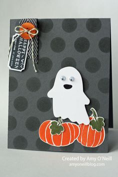 A Ghost in the Pumpkins by Amy O'Neill, Amy's Paper Crafts | That's the Ticket