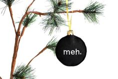 meh black felt Christmas ornament $10.50