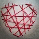 El corazón en poceso #manualidad #romántica #corazón de hilos