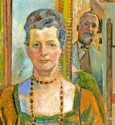 Cuno Amiet - Self-portrait with wife (c1930)