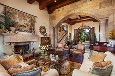 fire place, pillow, living rooms, dream bedroom, sit room, basement, beauti space, live room, decor idea