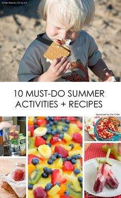 "Summer Bucket List: A mix of kid-friendly and mommy-only items  *I'm making that ""secret"" fruit salad! Maybe the Mojito Popsicles too. ;-) summer bucket lists, famili, kid"