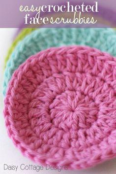 easy crochet face scrubbies