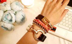 army~ army~ leather cuff bracelet, leather wrap bracelet,friendship bracelet.
