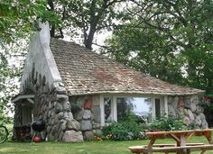 "One of the ""Mushroom Houses"" in Charlevoix, MI"