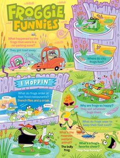 Froggie Funnies (Frog jokes from Ranger Rick magazine) jokes, frog joke, funni frog, ranger rick, magazines, froggi funni, frogs, rick magazin