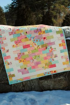 PDF QUILT PATTERN.... Quick and Easy...Jelly Roll, Layer Cake, Fat Quarter, Fat Eight friendly, Borderline Crazy. $9.00, via Etsy.