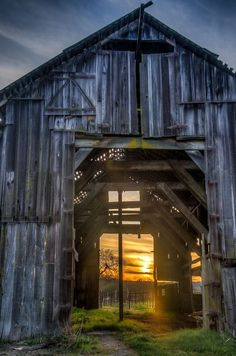 beautiful old barns such as these inspire the design of our unique reclaimed barn wood furniture - www.braunfarmtables.com
