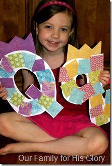 preschool letter crafts, quilt patterns, alphabet letters, letter activities preschool, art letter, preschool art for letter q, alphabet art preschool, abc preschool, letter art