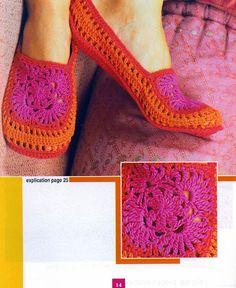 Crochet slippers - free pattern