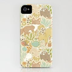 Animal's Tea Party iPhone Case by Teagan White - $35.00