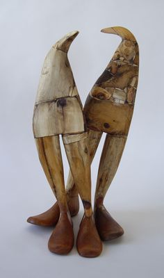 Susan Valyi , Pygos, wood and resin construction
