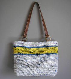 crochet plarn purse/tote
