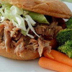 "North Carolina Pulled Pork | ""I got this from an North Carolina native and it is the best. It is pretty much foolproof. This is made in the slow cooker."""