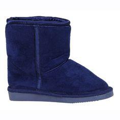 Mini ZZZ Kids Boys Girls Navy Blue Fleece-Lined Sleeper Boots | eBay