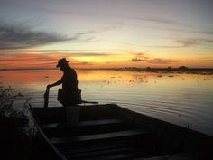 Pescador en el Río Apure / Fisher in the Apure River