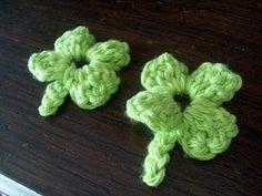 Free Crocheted Shamrock Pattern