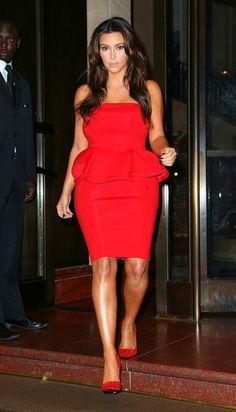 bronze, bugs, red peplum, kim kardashian, the dress, design, curves, parti, peplum dresses