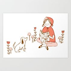 Little+Red+Reading+Hood+Art+Print+by+Nisee+Made+-+$16.00