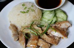 Vietnamese Soul Food: Hainanese Chicken Rice/Poached Chicken with Rice- Com Ga kieu luoc
