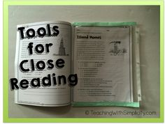 Use a page protector to place over a textbook page for students to use during close reading.
