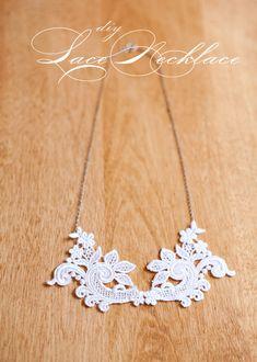 DIY lace necklace