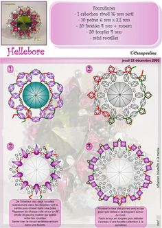 Free DIY tut - hellebore beaded bead pattern
