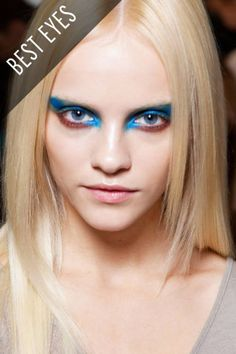 For fall 2012, Prabal Gurung turned out deliciously colored eye makeup inspired by bird feathers and beetle wings
