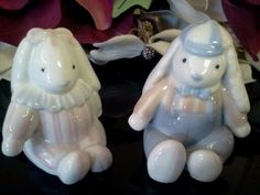 Vintage Bunny Rabbit Figurines by KeepsakeVintage on Etsy, $10.00