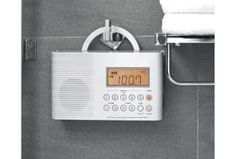 waterproof shower radio by Sharper Image - so I can wake myself up with good music while in the shower  :)