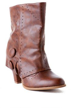 Most Wanted Perforated Bootie in Tan $60.00   Francesca's