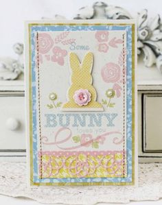 Some Bunny Loves You Card by Melissa Phillips for Papertrey Ink (February 2013)